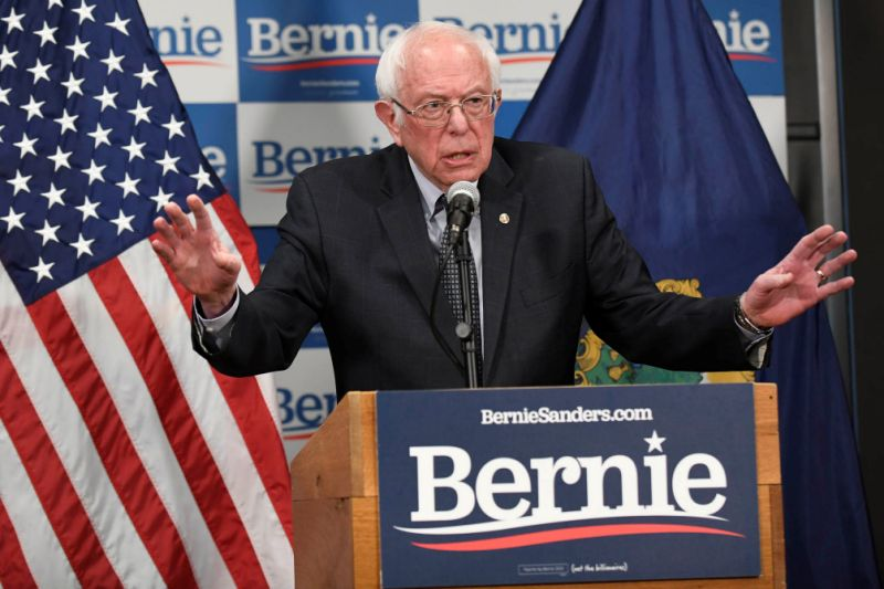 Democratic U.S. presidential candidate Bernie Sanders speaks about coronavirus in Burlington, Vermont, U.S. March 12, 2020. REUTERS/Caleb Kenna
