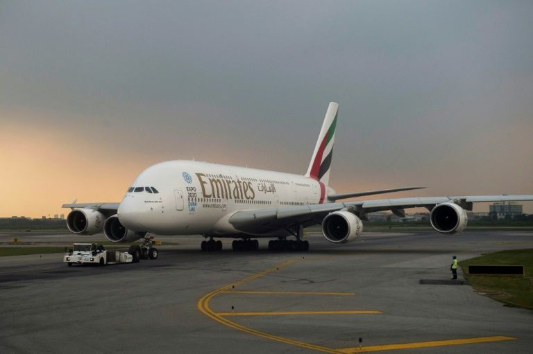 Airlines, including long-haul giant Emirates, have been hit particularly hard by the coronavirus pandemic (AFP Photo/ROMEO GACAD)