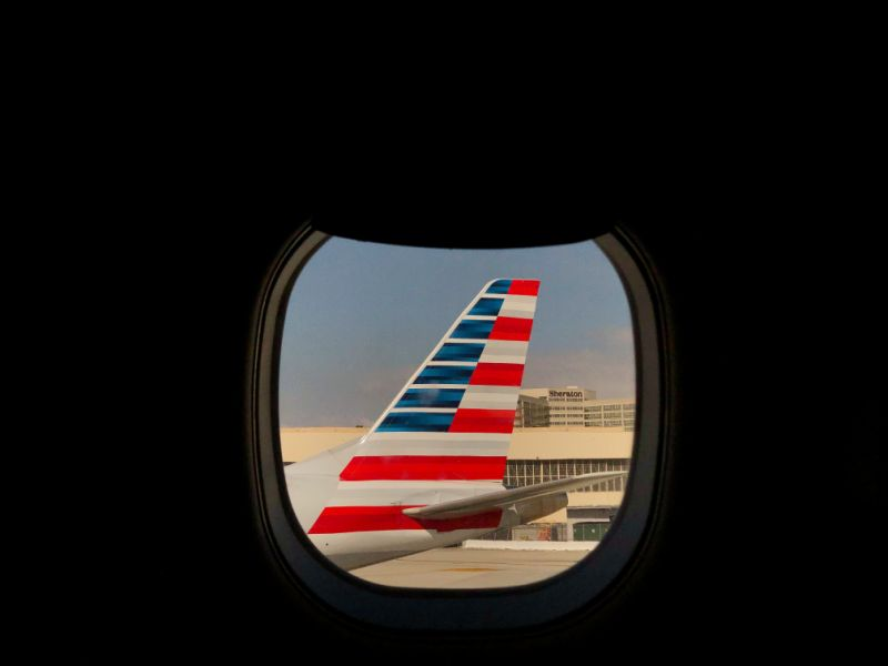 An American Airlines airplane sits on the tarmac at LAX in Los Angeles, California, U.S., March 4, 2019. Picture taken March 4, 2019. REUTERS/Lucy Nicholson/File Photo