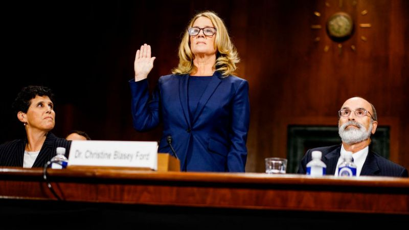 Christine Blasey Ford testifies in the confirmation of now-Supreme Court Justice Brett Kavanaugh