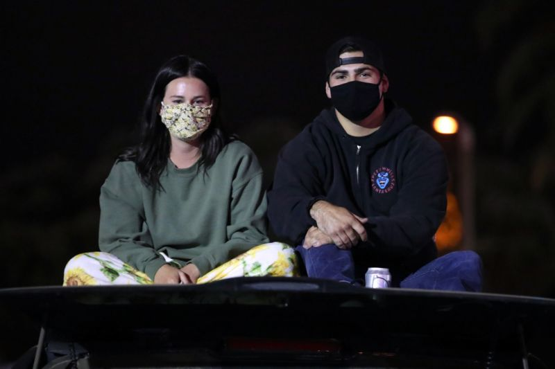 Fans attend a live stream of Garth Brooks Concert Event for the Concerts In Your Car Series at Ventura County Fairgrounds and Event Center on June 27, 2020. (Photo by Rich Fury/Getty Images)