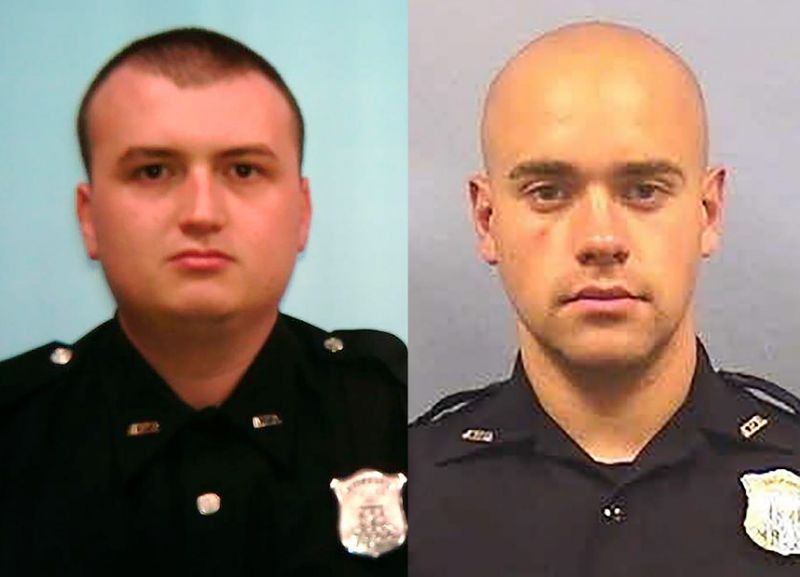 Atlanta Police Department officers Devin Brosnan, left, and Garrett Rolfe. Both were involved in the shooting death of Rayshard Brooks.