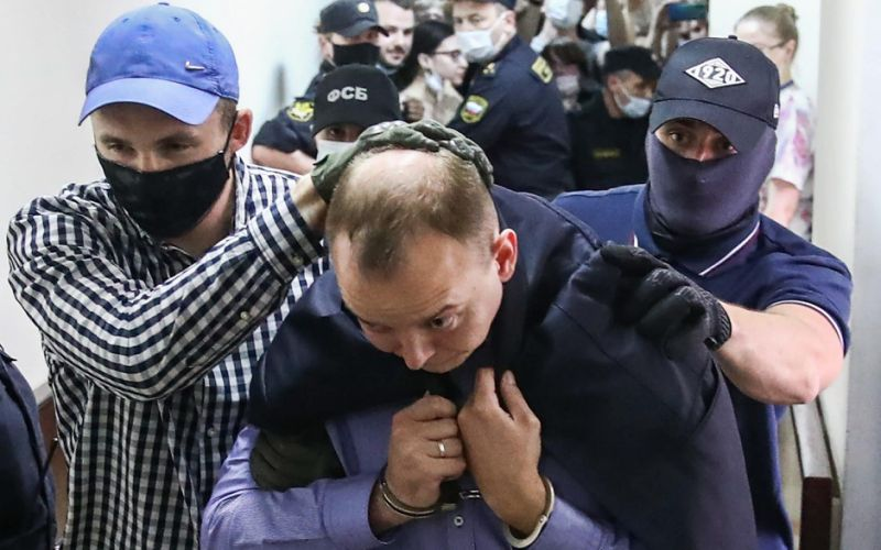 Ivan Safronov was seized outside his home on Tuesday morning - TASS