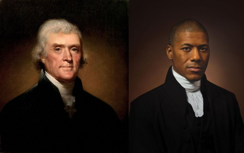 Thomas Jefferson alongside Black descendant holds 'a mirror' to U.S.