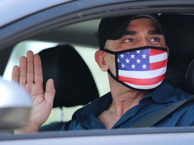 US citizens are sworn-in, in California, as others research how to relocate to New Zealand: Getty Images