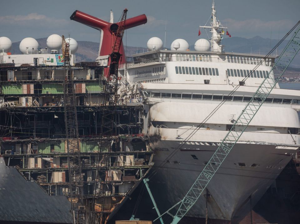 Cruise ships ship breaking yard Turkey