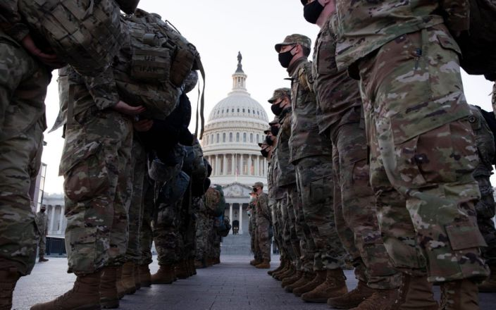 The US Capitol has been fortified amid fresh threats of violence - Shutterstock